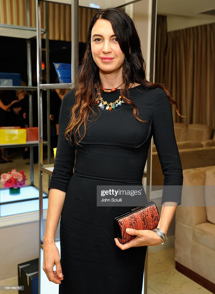 Shiva Rose attends a dinner hosted by Ali Larter celebrating the Devi Kroell Spring Summer 2013 Collection at Sunset Tower on November 1, 2012 in West Hollywood, California.