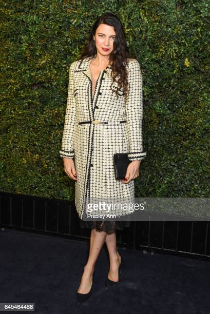 Shiva Rose attends Charles Finch and CHANEL PreOscar Awards Dinner at Madeo Restaurant on February 25 2017 in Los Angeles California