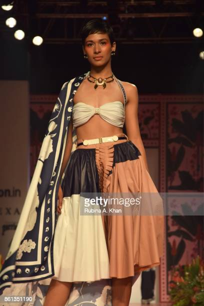 Shivan Narresh's collection at the Fashion Design Council of India's 30th edition of India Fashion Week Spring Summer 2018 at the National Small...