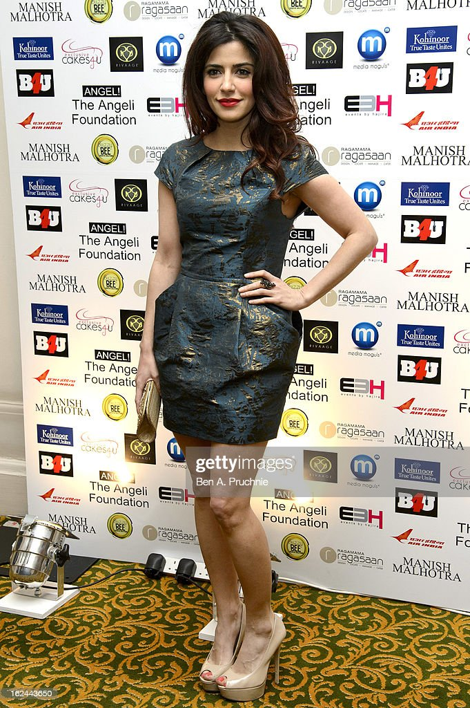 Shivani Ghai attends a charity fundraising event hosted by Manish Malhotra in aid of 'Save the Girl Child' at The Grosvenor House Hotel on February 23, 2013 in London, England.