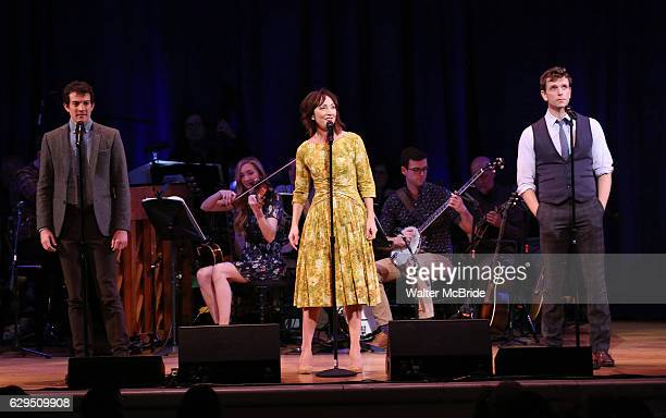 J Shively Carmen Cusack and Paul Alexander on stage during 'Bright Star' In Concert at Town Hall on December 12 2016 in New York City