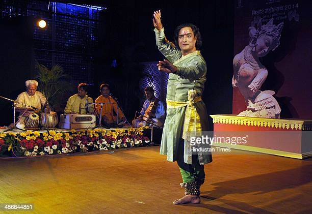 Shivji Misra with his team members performing kathak dance during the threeday 'Bihar Mahotsav 2014' the festival organised jointly by Department of...