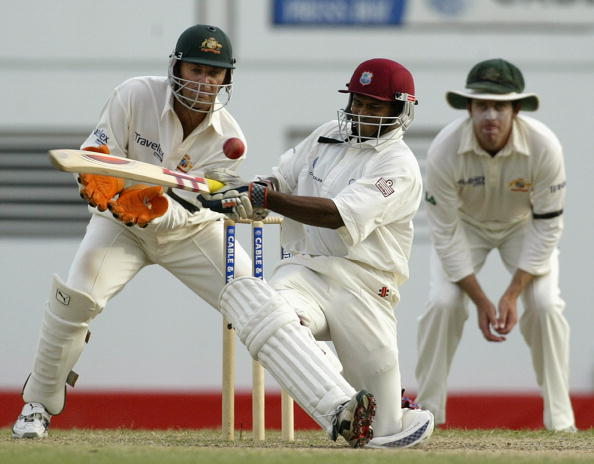 Shivnarine Chanderpaul of the West Indies in action : News Photo