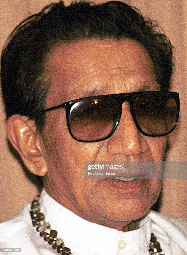 Shivsena Chief Balasaheb Thackeray attends the press conference on June 10, 2002 in Mumbai, India.