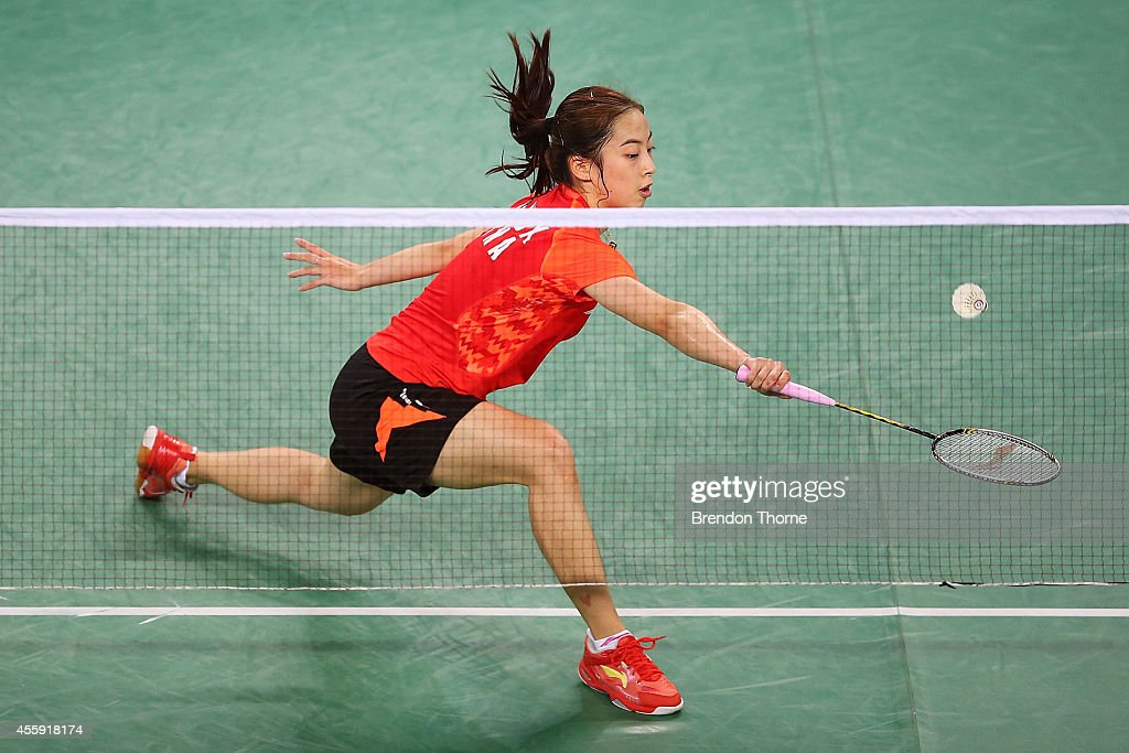 Shixian Wang of China competes in the Women's gold medal match during day three of the 2014 Asian Games at Gyeyang Gymnasium on September 22 2014 in...