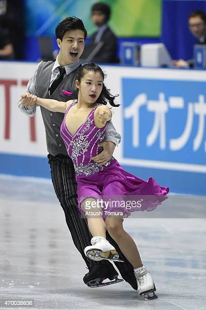 Shiyue Wang and Xinyu Liu of China compete in the Ice Dance free dance during the day two of the ISU World Team Trophy at Yoyogi National Gymnasium...