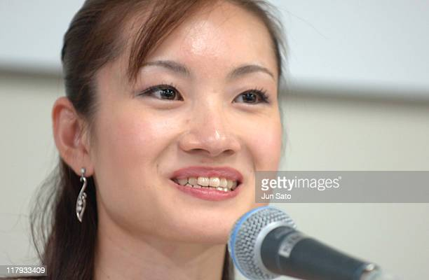 Shizuka Arakawa during Champions on Ice 2006 Japan Tour Launch Presscall in Yokohama Japan