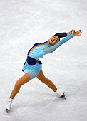 Shizuka Arakawa of Japan competes in the Women's Figure Skating Free Skate competition at the Palavela venue during the 2006 Winter Olympic Games...