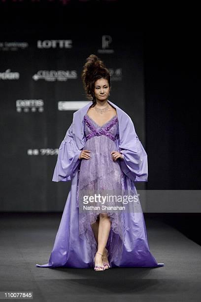 Shizuka Arakawa wearing Paris Haute Couture by Eymeric Francois