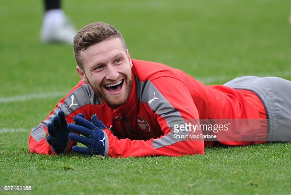 Shkodran Mustafi of Arsenal during a training session at London Colney on December 2 2016 in St Albans England
