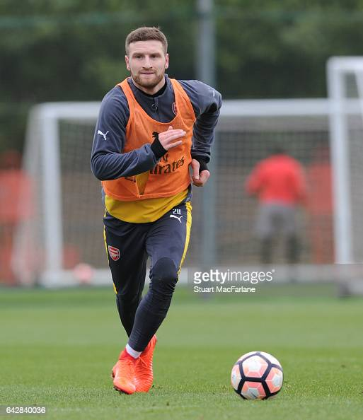 Shkodran Mustafi of Arsenal during a training session on February 19 2017 in St Albans England