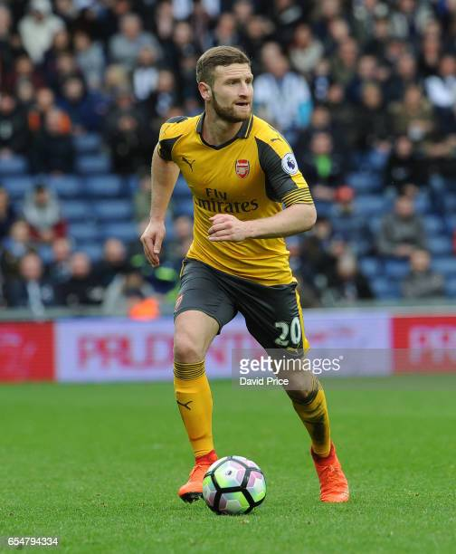 Shkodran Mustafi of Arsenal during the Premier League match between West Bromwich Albion and Arsenal at The Hawthorns on March 18 2017 in West...