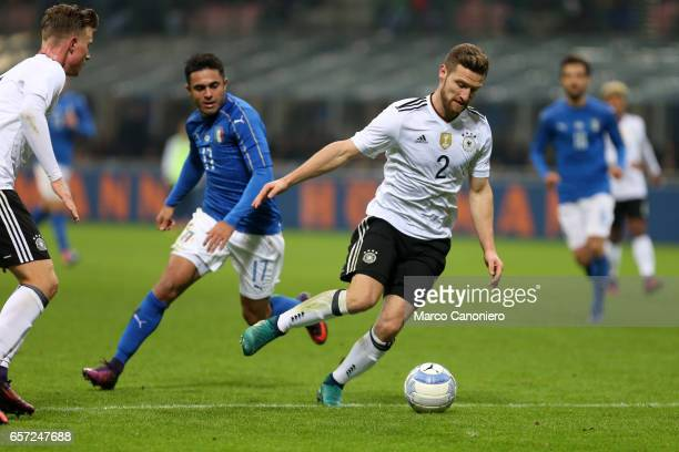 Shkodran Mustafi of Germany during the International friendly match between Italy and Germany at Giuseppe Meazza Stadium