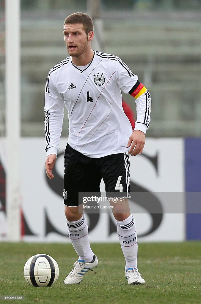 Shkodran Mustafi of Germany during U20 International Friendly match between Italy and Germany at Stadio Cosimo Puttilli on February 6, 2013 in Barletta, Italy.