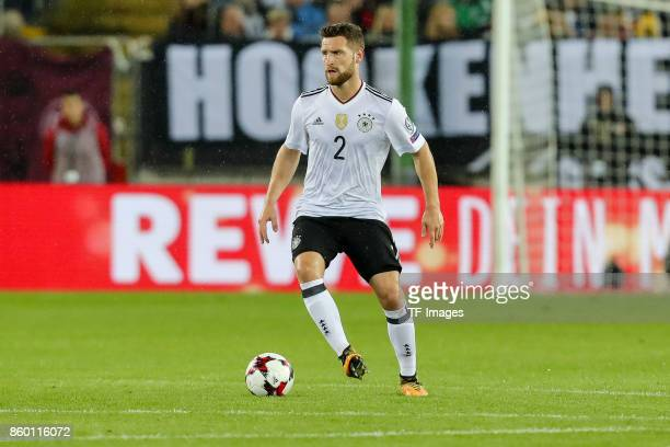 Shkodran Mustafi of Germany gestures during the FIFA 2018 World Cup Qualifier between Germany and Azerbaijan at FritzWalter Stadium on October 8 2017...