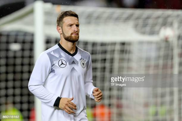 Shkodran Mustafi of Germany looks on during the FIFA 2018 World Cup Qualifier between Germany and Azerbaijan at FritzWalter Stadium on October 8 2017...