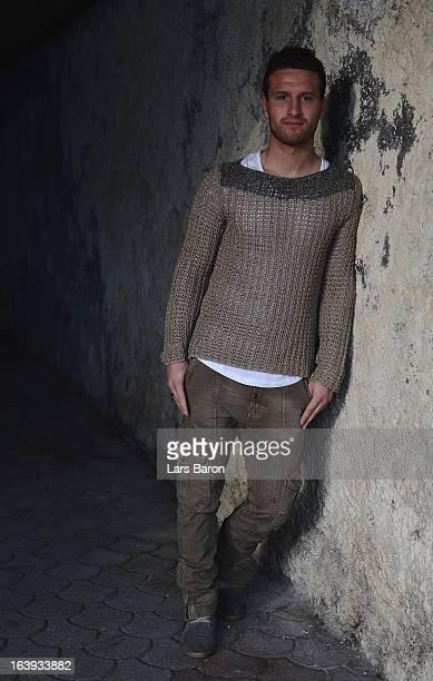 Shkodran Mustafi of Sampdoria Genoa poses during a photo call on February 20 2013 in Genoa Italy