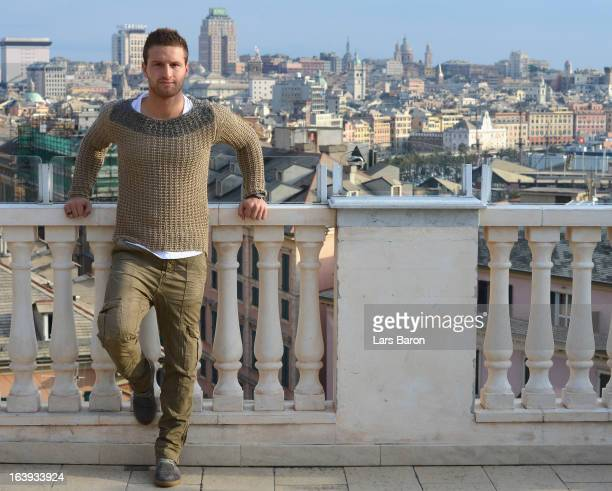 Shkodran Mustafi of Sampdoria Genoa poses during a photo call on February 20 2013 in Genoa Italy