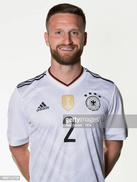 Shkodran Mustafi poses for a picture during the Germany team portrait session on June 16 2017 in Sochi Russia