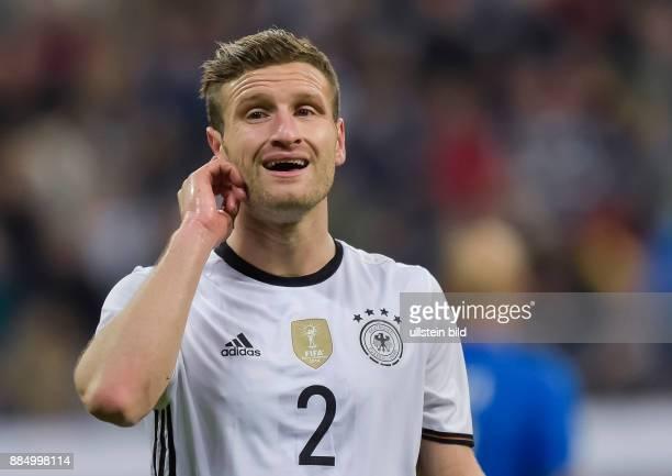 Shkodran Mustafi waehrend dem Fussball Laenderspiel Deutschland gegen Italien in der Allianz Arena am 29 Maerz 2016 in Muenchen Endstand 41