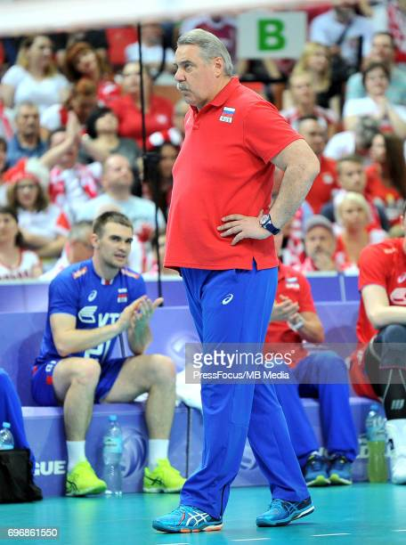 Shliapnikov Sergey during the FIVB Volleyball World League 2017 match between Poland and Russia at Spodek on June 15 2017 in Katowice Poland