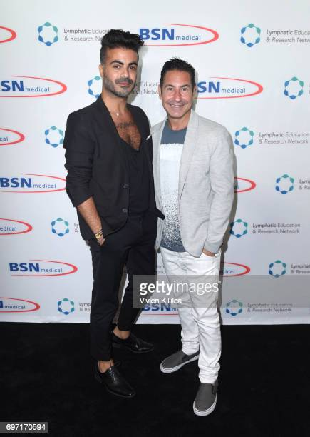 Shlomi Hillel Krim and President/CEO of The Krim Group Todd Krim attend Academy Award Winner and LERN Spokesperson Kathy Bates Hosts Reception On The...