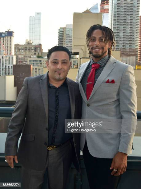 Shlomi Maman and Reggie Bell attend the ARIDO Gem Award 2017 honoring Adrianna Edwards at a private location on August 24 2017 in New York City