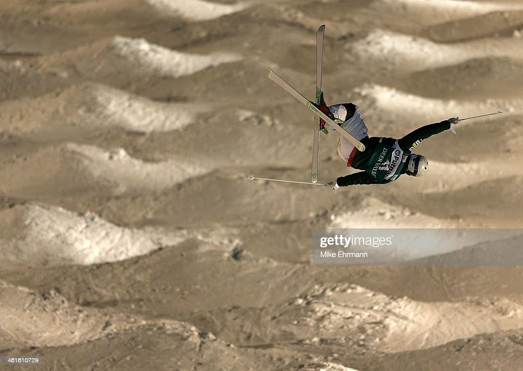 Sho Kashima competes during Finals for Mens Moguls at the 2014 FIS Freestyle Ski World Cup at Deer Valley on January 9, 2014 in Park City, Utah.