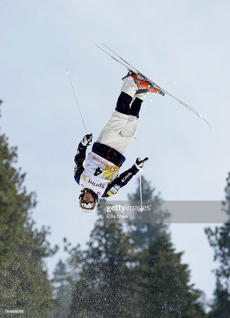 Sho Kashima competes in the Men's Moguls at the U.S. Freestyle Moguls National Championship at Heavenly Resort on March 29, 2013 in South Lake Tahoe, California. Kashima finished in third place.