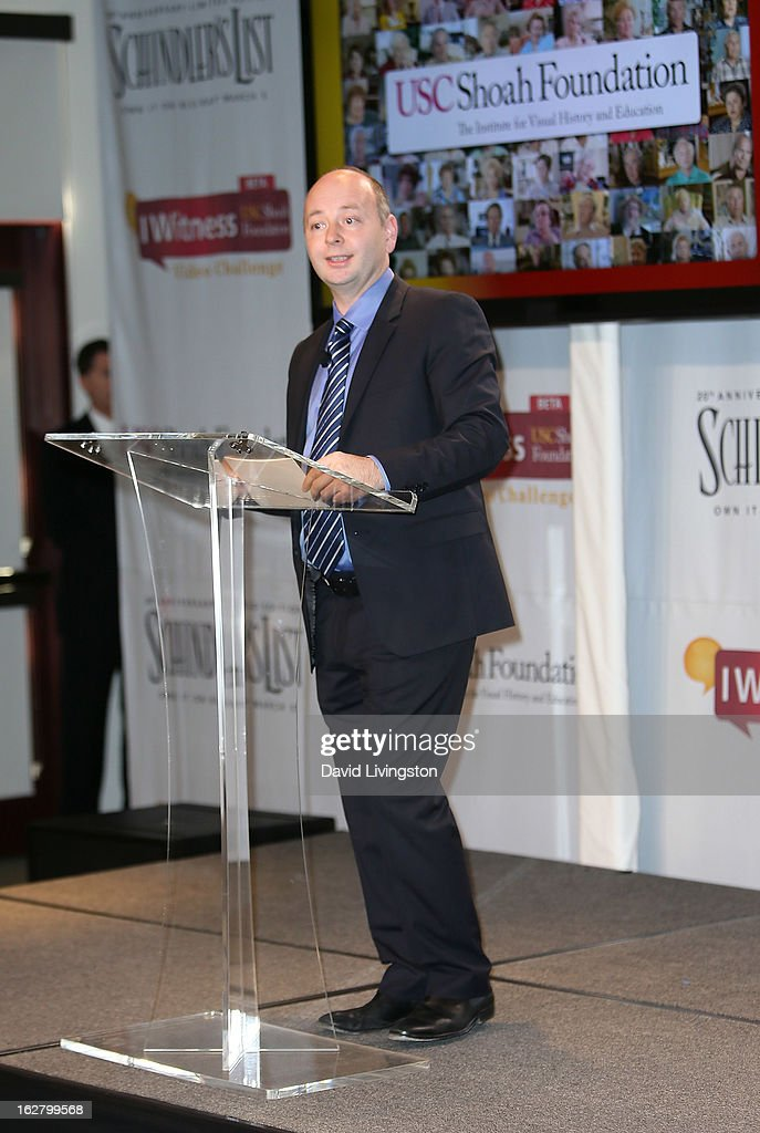 Shoah Foundation Executive Director Dr. Stephen Smith attends the 'Schindler's List' 20th Anniversary Limited Edition DVD/Blu-ray & USC Shoah Foundation's IWitness Video Challenge launch event at The Chandler School on February 27, 2013 in Pasadena, California.