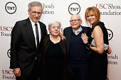 USC Shoah Foundation Honorary Chair Steven Spielberg Carol Levy DreamWorks Studios' Marvin Levy and actress Kate Capshaw attend USC Shoah...