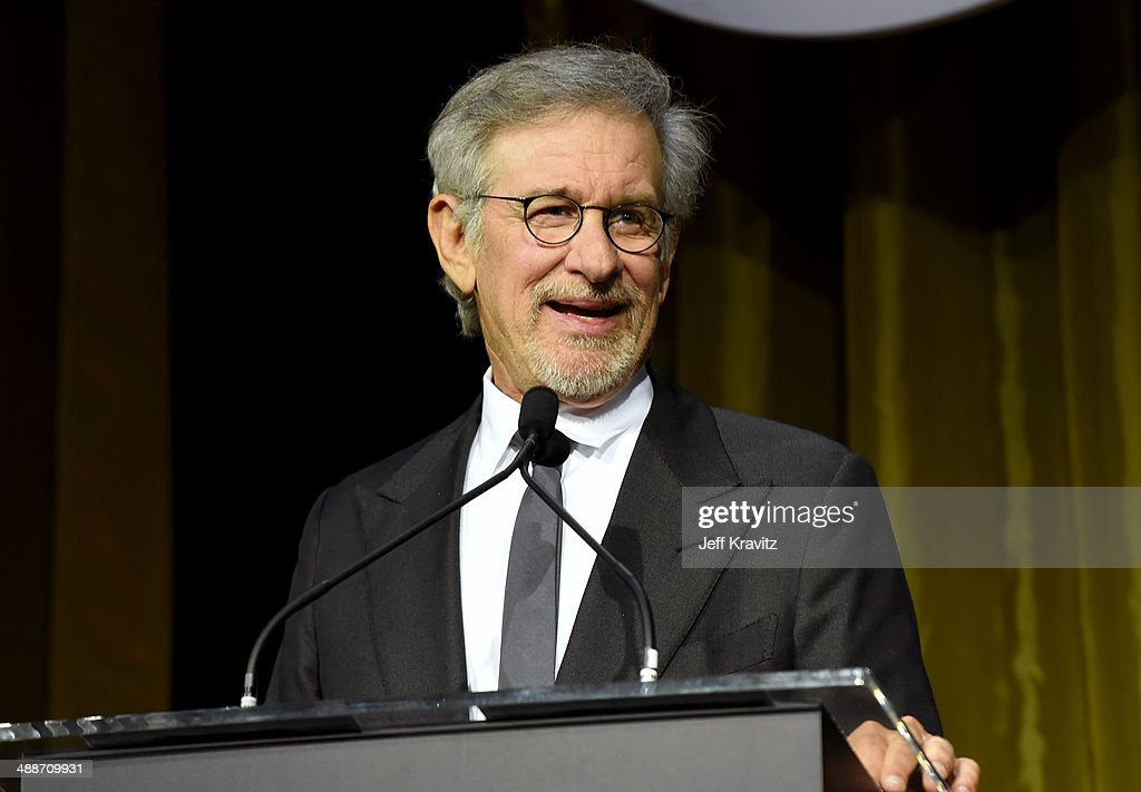 Shoah Foundation Honorary Chair <a gi-track='captionPersonalityLinkClicked' href=/galleries/search?phrase=Steven+Spielberg&family=editorial&specificpeople=202022 ng-click='$event.stopPropagation()'>Steven Spielberg</a> speaks onstage during USC Shoah Foundation's 20th Anniversary Gala at the Hyatt Regency Century Plaza on May 7, 2014 in Century City, California.