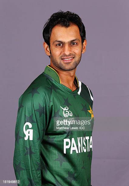 Shoaib Malik of Pakistan pictured during a Pakistan Portrait Session ahead of the ICC T20 World Cup at the Cinnamon Grand Hotel on September 13 2012...