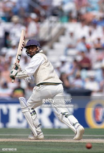 Shoaib Mohammad batting for Pakistan during the 5th Test match between England and Pakistan at The Oval London 7th August 1992