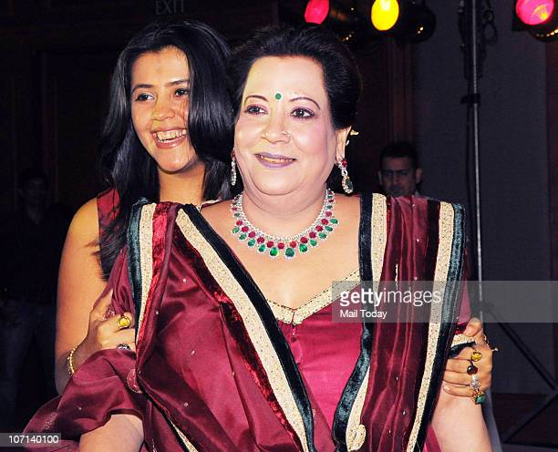 Shobha and Ekta Kapoor at the 100 day celebration party of the film Once Upon A Time In Mumbai on November 24 2010