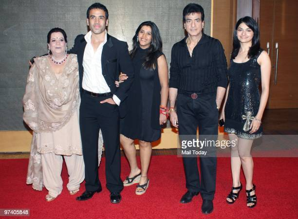 Shobha Tushar and Ekta Kapoor with Jeetendra and Prachi Desai at Big Pictures' success bash held in Mumbai on February 28 2010