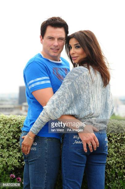 Shobna Gulati and John Barrowman are unveiled as having the Wizard Jeans Rear Of the Year at the Dorchester Hotel in London