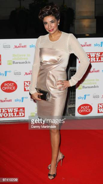 Shobna Gulati attends the Children's Champions 2010 awards at The Grosvenor House Hotel on March 3 2010 in London England