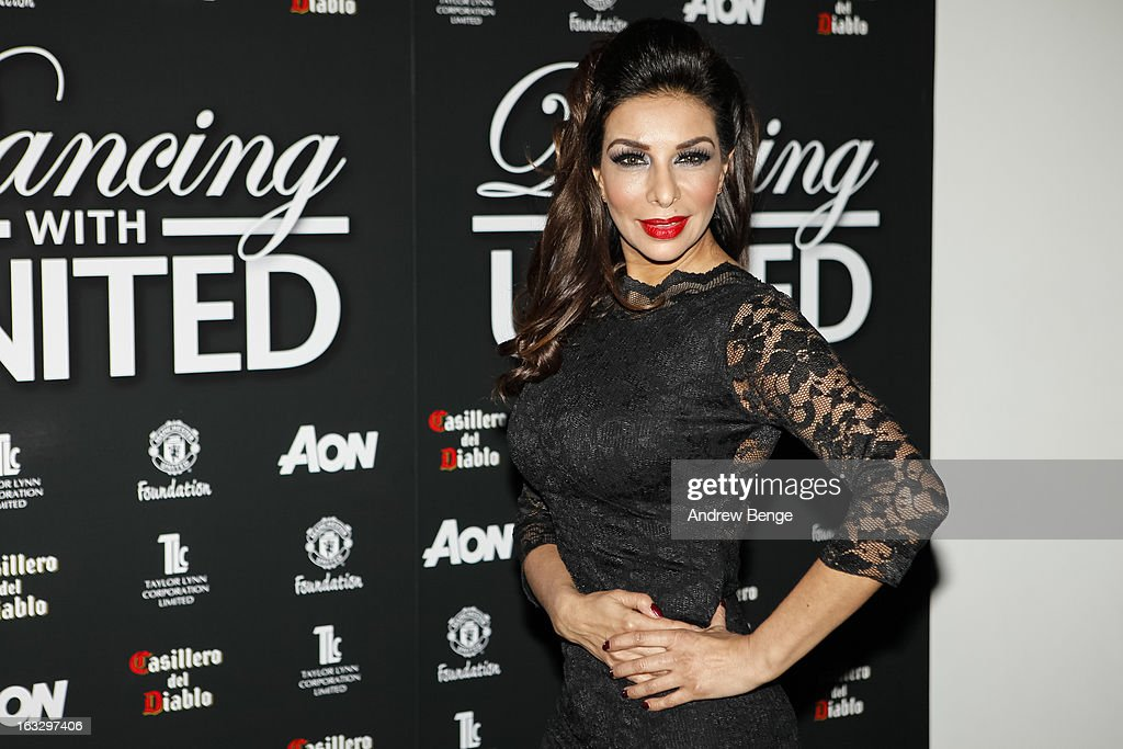 Shobna Gulati attends the Manchester United Foundation's Dancing With United charity fundraiser at Lancashire County Cricket Club on March 7, 2013 in Manchester, England.