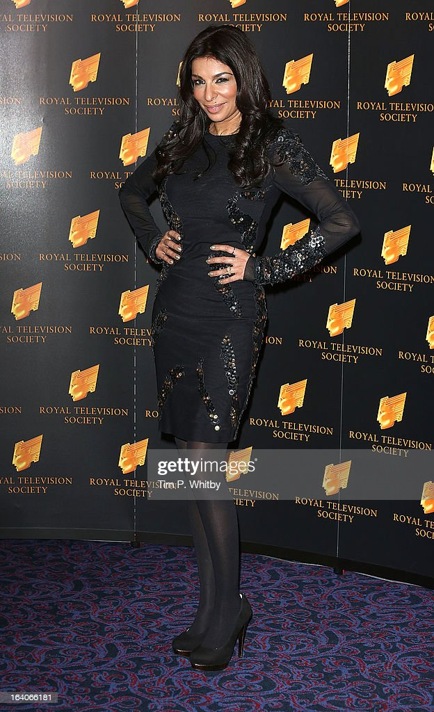 Shobna Gulati attends the RTS Programme Awards at Grosvenor House, on March 19, 2013 in London, England.