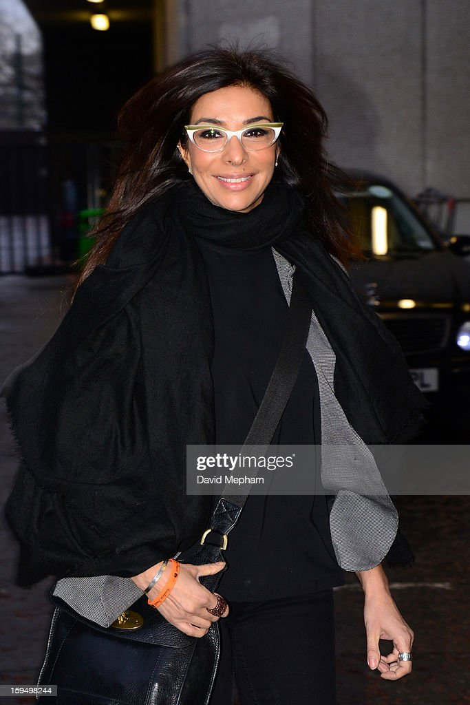 Shobna Gulati leaves the ITV Studios on January 14, 2013 in London, England.