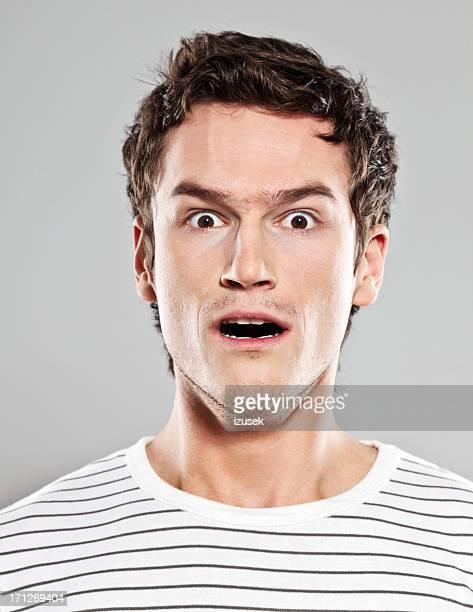 Schockiert Mann