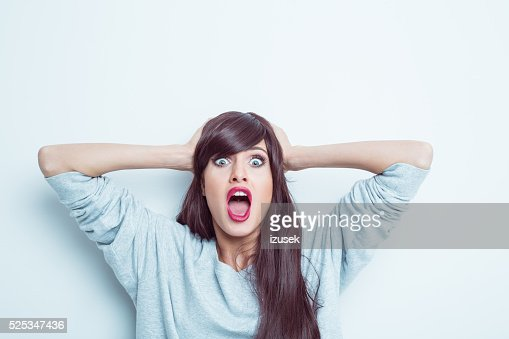 Shocked young woman
