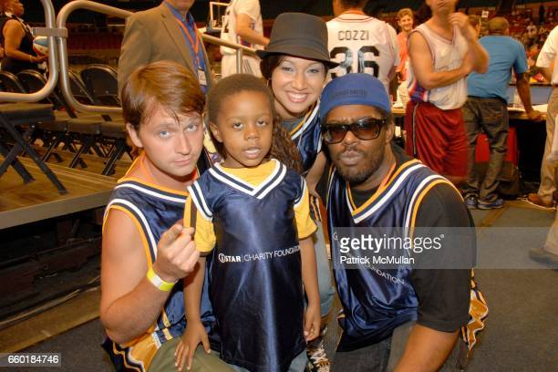 Shockwave Psyence Butterscotch and Kid Lucky attend Seventh Annual Istar Charity Shootout at Madison Square Garden on July 20 2009 in New York City