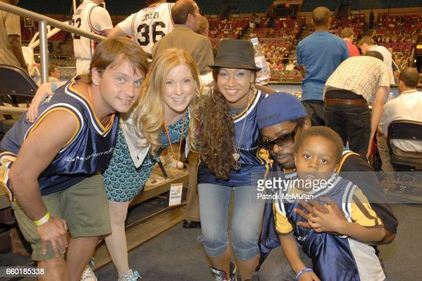 Shockwave Saranne Rothberg Butterscotch Kid Lucky and Psyence attend Seventh Annual Istar Charity Shootout at Madison Square Garden on July 20 2009...