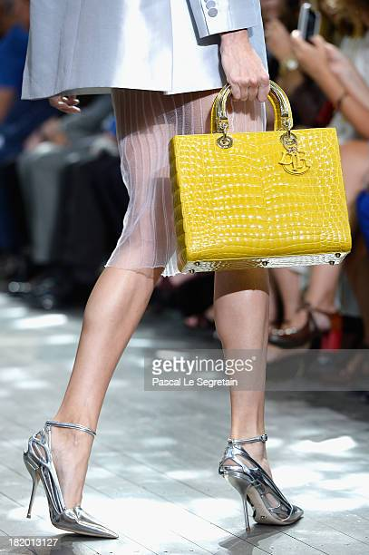 A shoe and bag details are seen as a model walks the runway during Christian Dior show as part of the Paris Fashion Week Womenswear Spring/Summer...