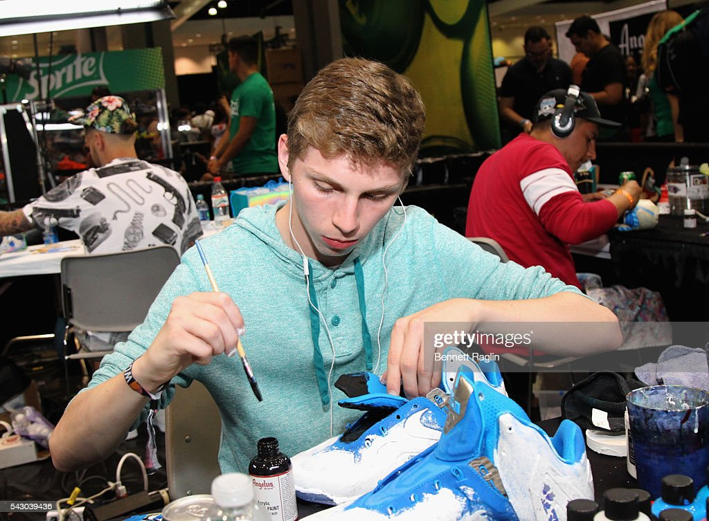 Shoe artist attends SneakerCon presented by Sprite, Rush Card, & FDA during the 2016 BET Experience at Los Angeles Convention Center on June 25, 2016 in Los Angeles, California.