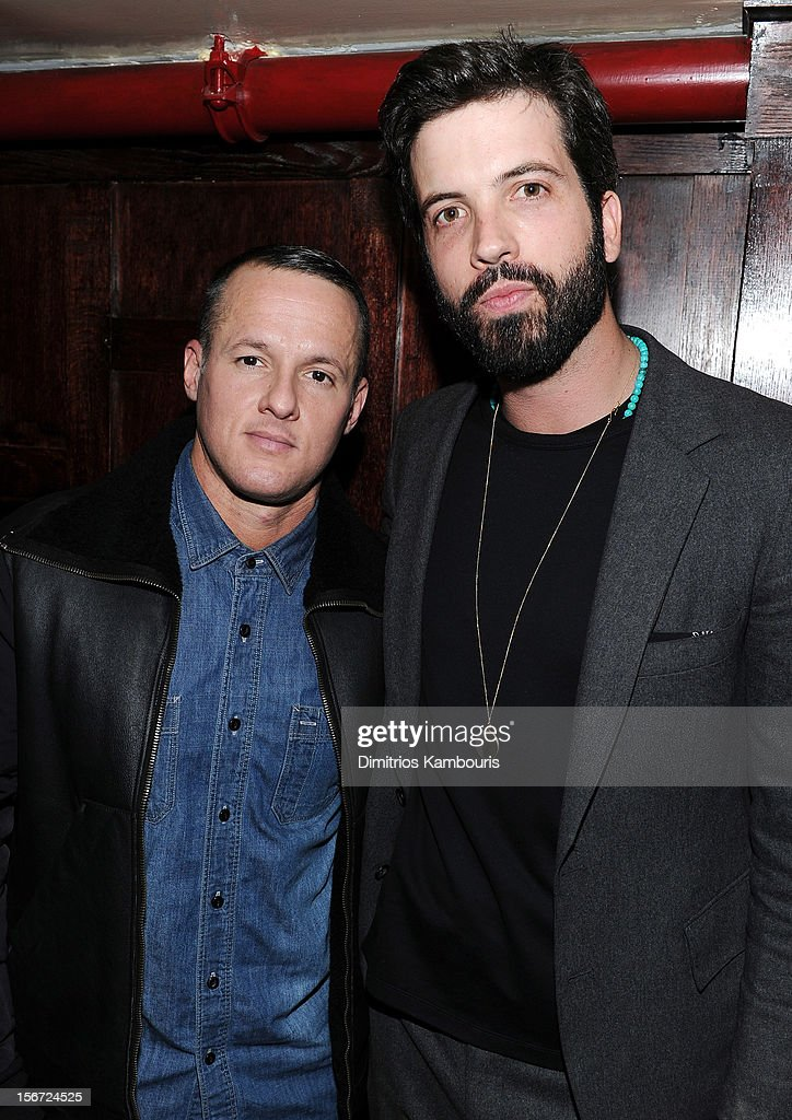 Shoe designer Alejandro Ingelmo (L) and GQ editor Will Welch attend GQ's The Style Guy party at The Beatrice Inn on November 19, 2012 in New York City.
