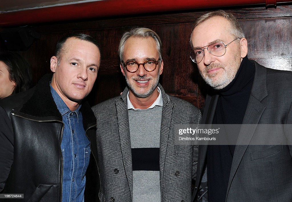 Shoe designer Alejandro Ingelmo, fashion designer Michael Bastian, and GQ Creative Director <a gi-track='captionPersonalityLinkClicked' href=/galleries/search?phrase=Jim+Moore+-+Creative+Director&family=editorial&specificpeople=14713491 ng-click='$event.stopPropagation()'>Jim Moore</a> attend GQ's The Style Guy party at The Beatrice Inn on November 19, 2012 in New York City.