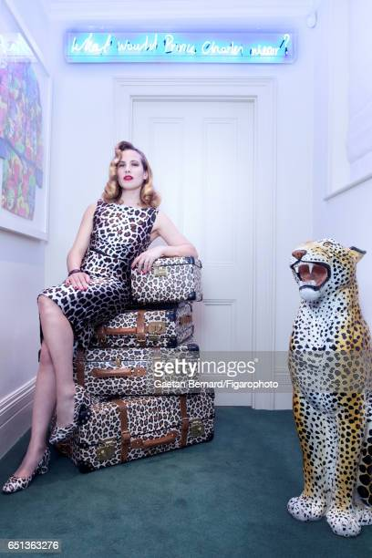 Shoe designer Charlotte Olympia is photographed for Madame Figaro on January 16 2017 in Paris France Dress PUBLISHED IMAGE CREDIT MUST READ Gaetan...
